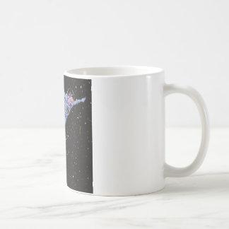 Space Cow Over Earth Classic White Coffee Mug