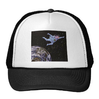 Space Cow Over Earth Trucker Hat