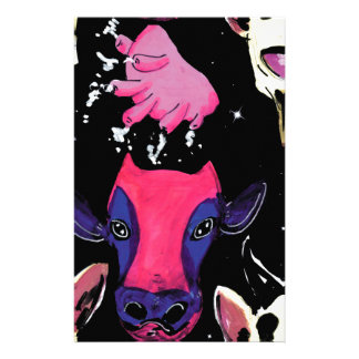 space cow stationery