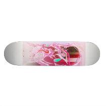 Space Cowboy invert magenta, white back backing... Skateboard Deck