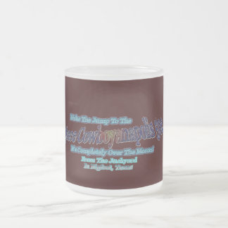 Space Cowboyanapolis 500-Completely Over The Moon! Frosted Glass Coffee Mug