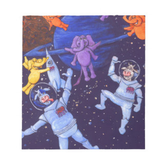 Space Cows and Space Elephants Notepad
