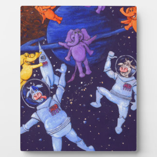 Space Cows and Space Elephants Plaque