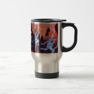 Space Cows on Mars Travel Mug