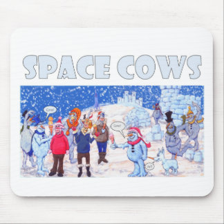 Space Cows on Pluto Mouse Pad