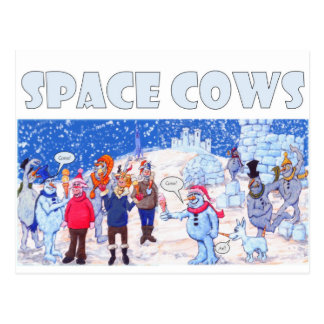 Space Cows on Pluto Postcard