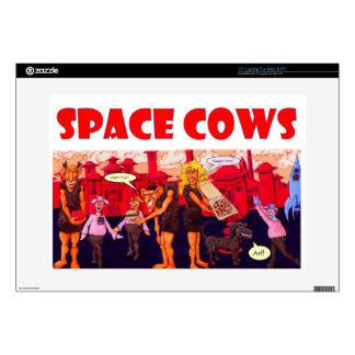 Space Cows on with Vegetarian Giants Skin For Laptop