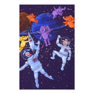 Space Cows Stationery