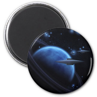 Space craft near gas giant 2 inch round magnet