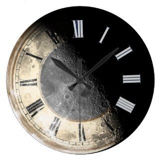 Space Crater Moon Art Clock