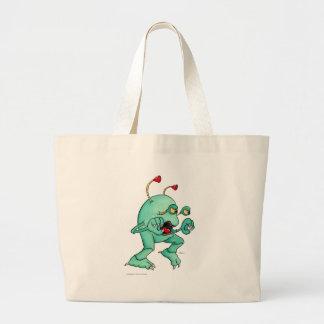 Space Creature 2 Large Tote Bag