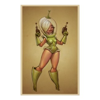 Space Dame Posters