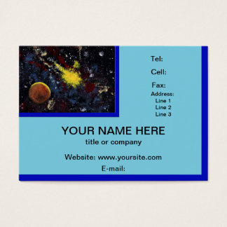 SPACE (design 12) chubby business card