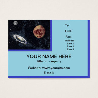 SPACE (design 4) chubby business card