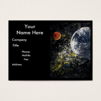 """SPACE design ~ """"Outer Space"""" chubby business card"""