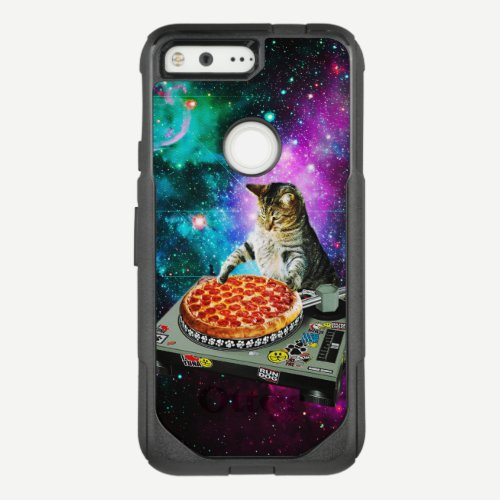 Space dj cat pizza OtterBox commuter google pixel case