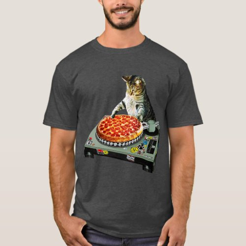 Space dj cat pizza T-Shirt