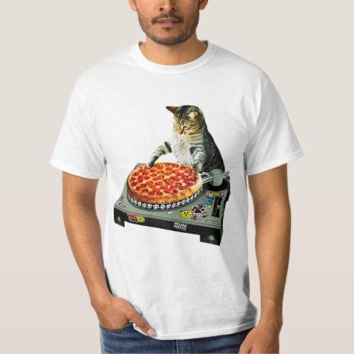 Space dj cat pizza T-Shirt