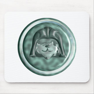 Space Dog Badge Mouse Pad