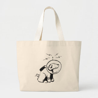 Space Dog Large Tote Bag