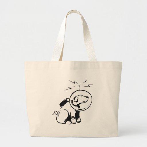 Space Dog Large Tote Bag