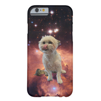 Space dog licking his nose. barely there iPhone 6 case