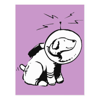 Space Dog Postcard