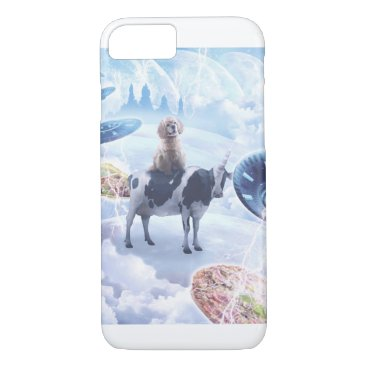 Space Dog Riding Cow Unicorn - Pizza & Taco iPhone 8/7 Case