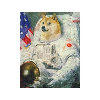 Space Doge Canvas paint version