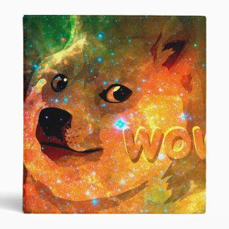 space - doge - shibe - wow doge 3 ring binder