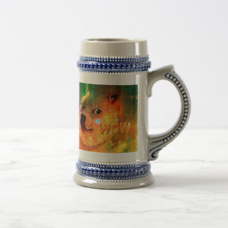 space - doge - shibe - wow doge beer stein