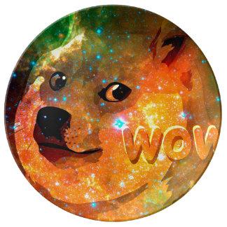 space - doge - shibe - wow doge plate
