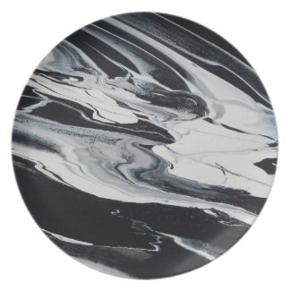Space Drift Melamine Plate