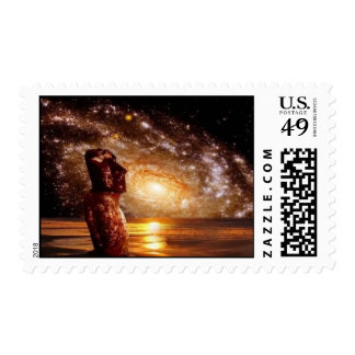 Space Easter Island Stamp