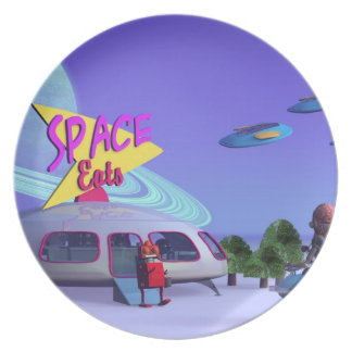 Space Eats Cafe Plate