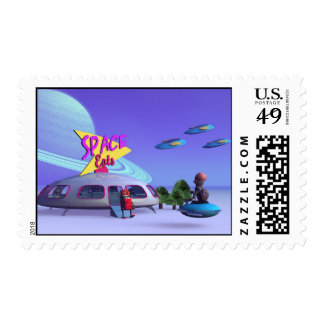 Space Eats Cafe Postage