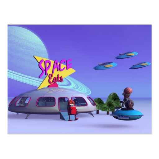 Space Eats Cafe Postcard