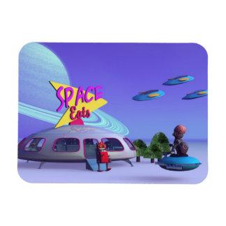 Space Eats Cafe Rectangular Photo Magnet