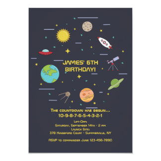 Space Elements Invitation