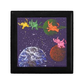 Space Elephants Jewelry Box