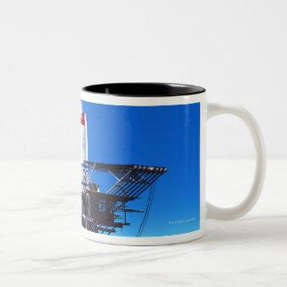 Space Elevator Two-Tone Coffee Mug