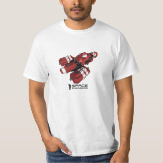 Space Engineers men's t-shirt - red ship