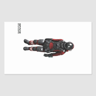 Space Engineers Rectangle Stickers - astronaut