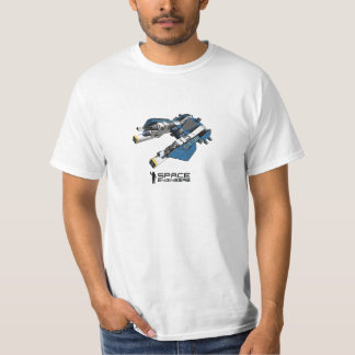 Space Engineers t-shirt - blue small ship