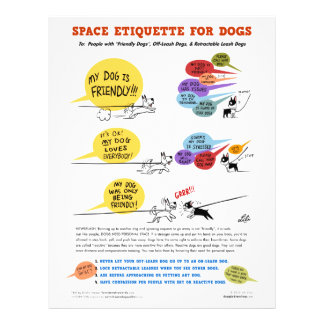 """Space Etiquette For Dogs - 8.5"""" x 11"""" Flyers"""