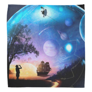Space Exploration Artwork Voyager Spacecraft Bandana