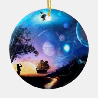 Space Exploration Artwork Voyager Spacecraft Ceramic Ornament