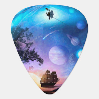 Space Exploration Artwork Voyager Spacecraft Guitar Pick