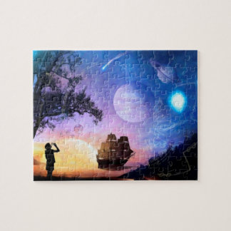 Space Exploration Artwork Voyager Spacecraft Jigsaw Puzzle