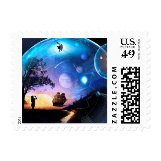 Space Exploration Artwork Voyager Spacecraft Postage